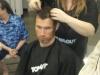 Samson's hairdo in progress